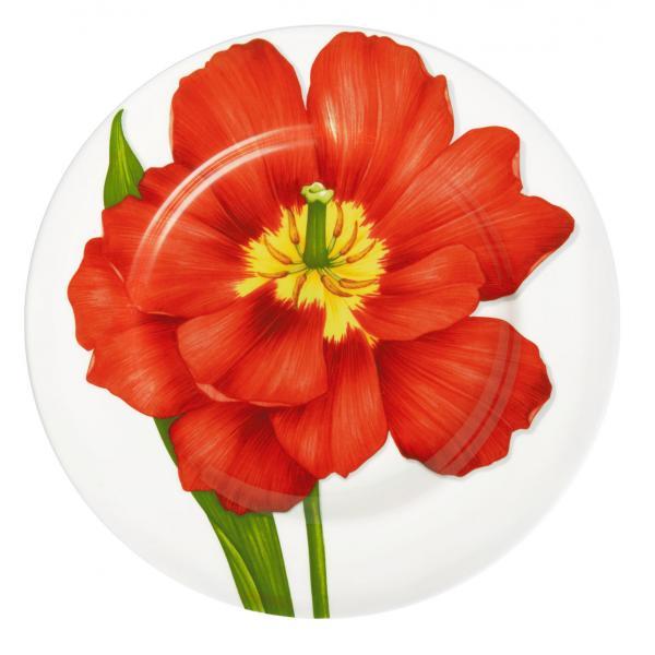 TAITÙ Freedom Assiettes Plates Mix 4 Pièces Fleur Rouge