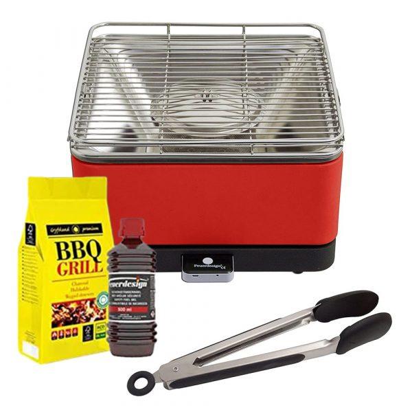 FEUERDESIGN Teide Barbecue Grill Rosso Carbonella Gel
