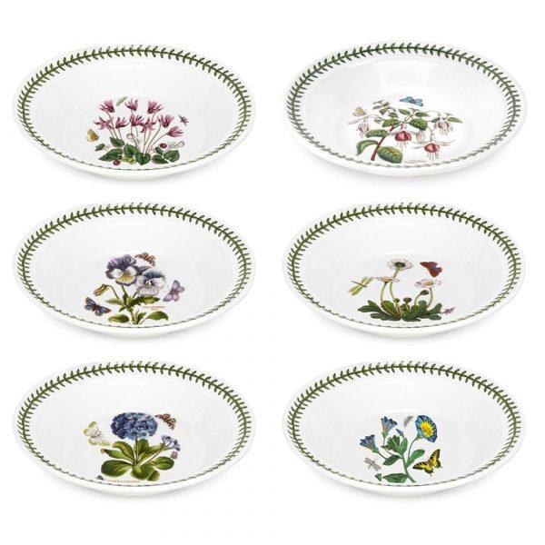 PORTMEIRION Botanic Garden Set 6 Soup Plates