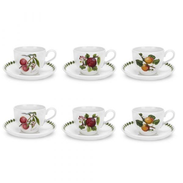 PORTMEIRION Pomona Set 6 Tea Cups