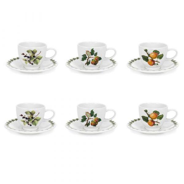 PORTMEIRION Pomona Set 6 Coffee Cups