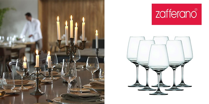Landing Page Dishes and Glasses Zafferano