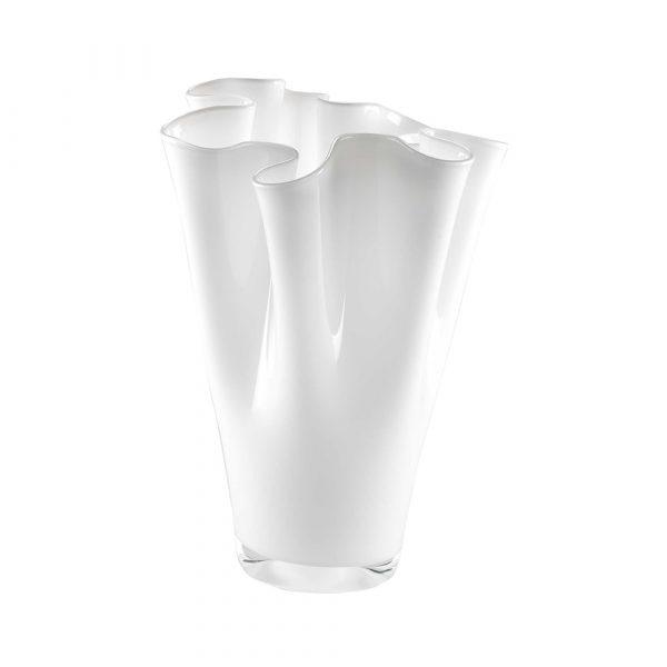 ONLYLUX Wave Vase Opal H30 cm White