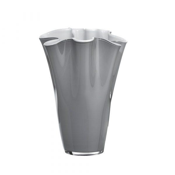 ONLYLUX Wave Vase Opal H30 cm Grey