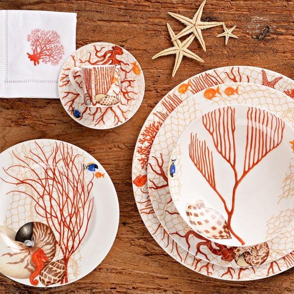 TAITÙ Dessert Plates Sea 4 Pieces