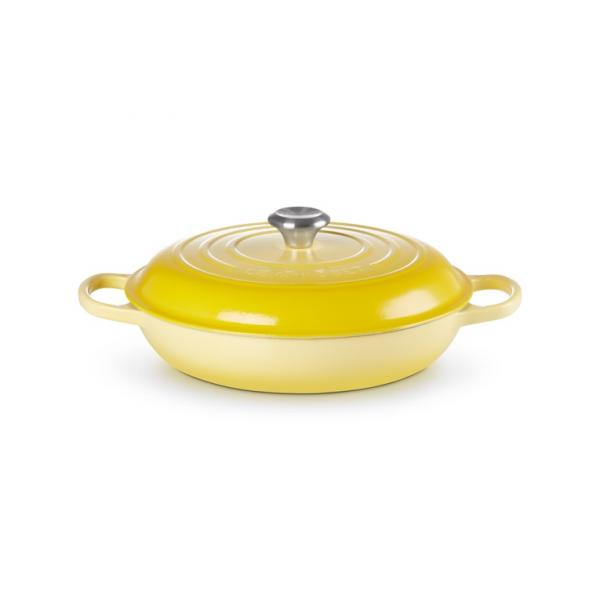LE CREUSET Signature Cast Iron Shallow Casserole 30 cm Yellow
