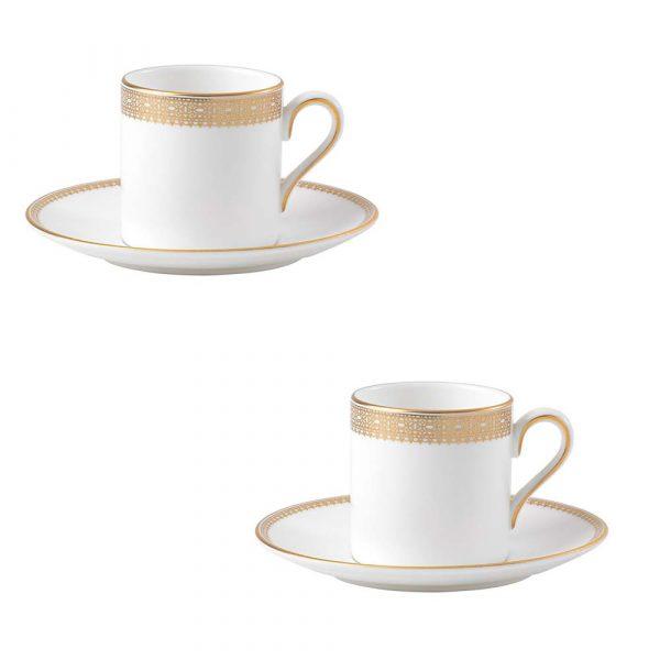 WEDGWOOD Vera Wang Lace Gold Tazzina Caffe