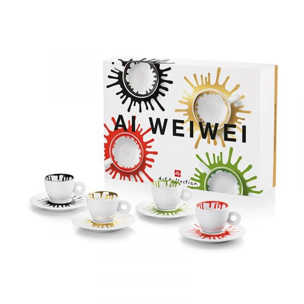 ILLY Coffee Cups Art Collection Ai Weiwei 4 pcs
