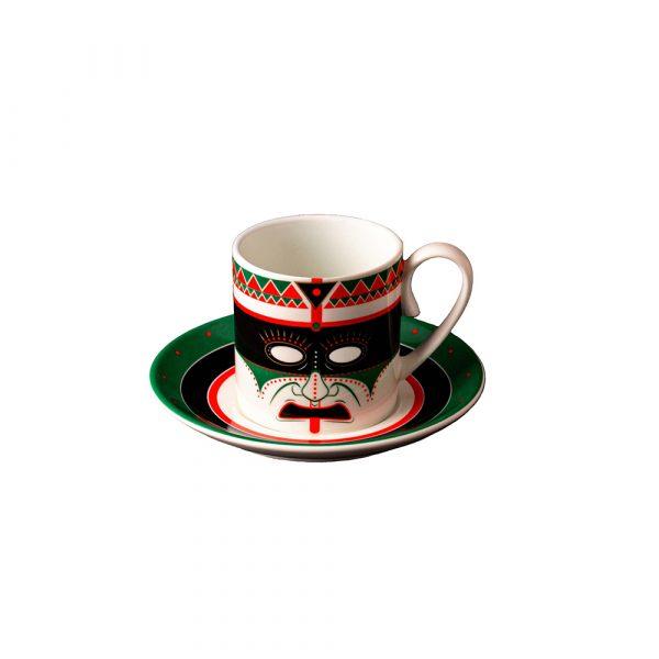 MANIFATTURA DI VENEZIA Ethnics Coffee Cup with Saucer Paha Sapa