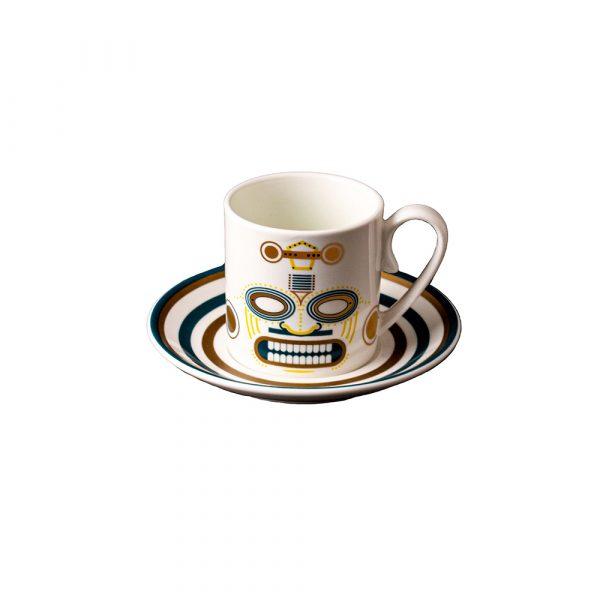 MANIFATTURA DI VENEZIA Ethnics Coffee Cup with Saucer Quiriguë