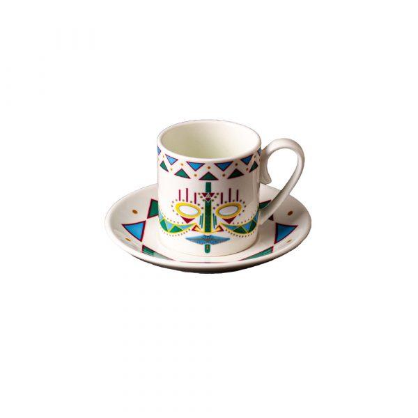 MANIFATTURA DI VENEZIA Ethnics Coffee Cup with Saucer Ulundu